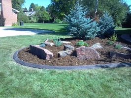 Stamp and textured landscape border, Decorative Landscape Borders, Golden CO