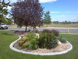 Mower style landscape border, decorative landscape borders