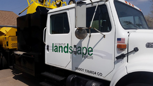 Concrete edging truck, landscape curbing truck