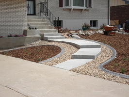 Textured angle landscape borders, decorative landscape borders