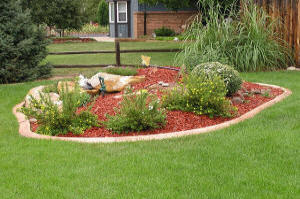 Lighted landscape border, Decorative Landscape Borders, Golden CO, landscape lighting, LED rope lighting